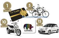 Logo Vinci con Caparol: biciclette, scooter, voucher e Fiat 500