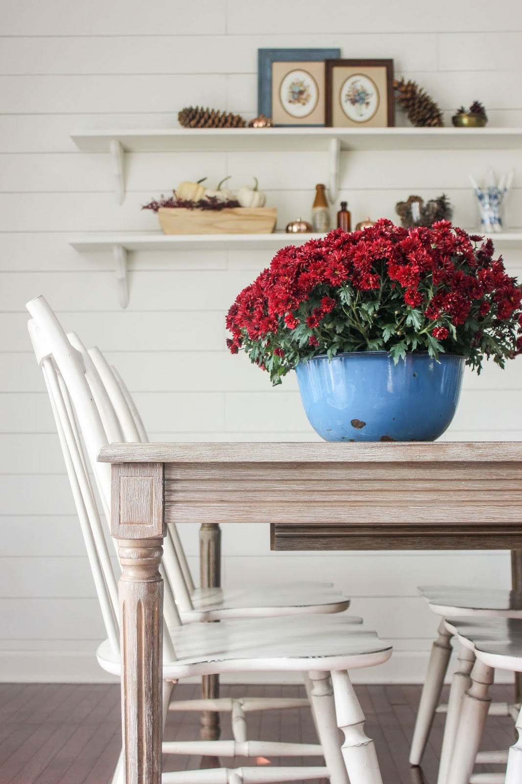 Decorating for fall with Mums