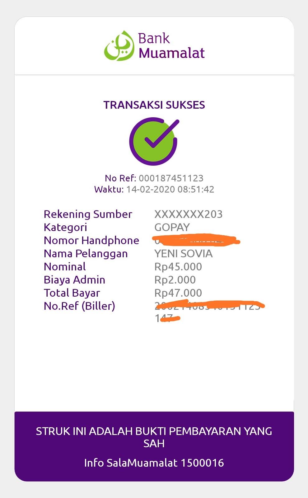 Isi saldo gopay via mobile banking