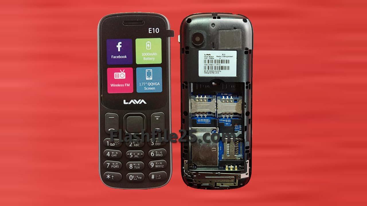 Lava E10 Flash File 6531E