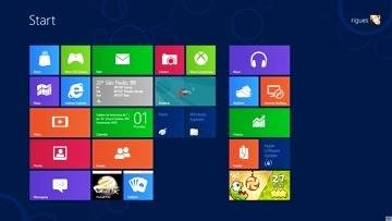 A tela Iniciar no Windows 8