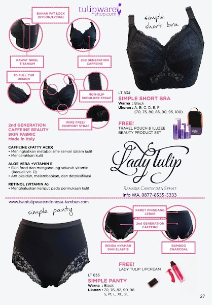 Promo Free Oktober 2018, Lady Tulip, Simple Short Bra, Simple Panty