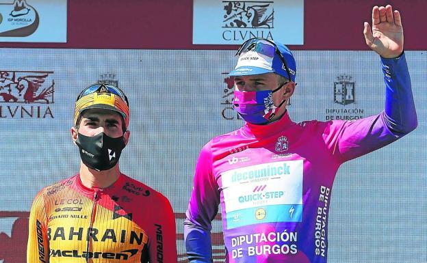 Remco Evenepoel campeón de la Vuelta a Burgos con Mikel Landa segundo