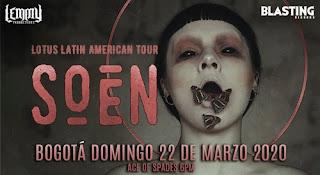 Concierto de SOEN en Bogotá, Colombia