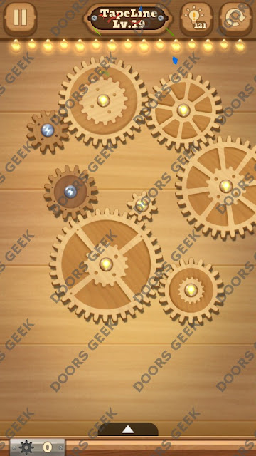 Fix it: Gear Puzzle [TapeLine] Level 19 Solution, Cheats, Walkthrough for Android, iPhone, iPad and iPod