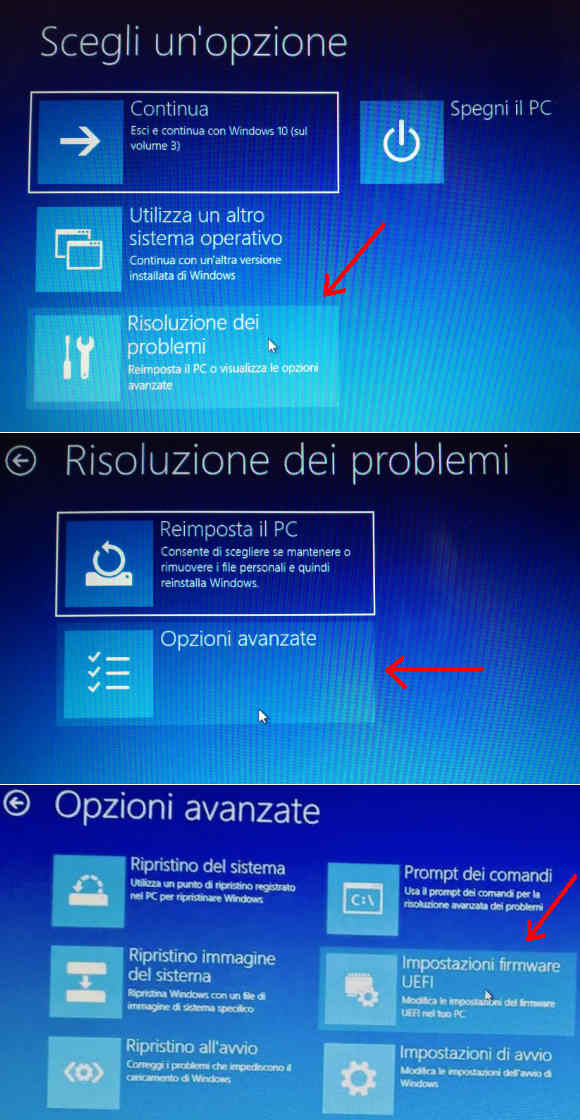 Windows 10 come accedere al BIOS UEFI