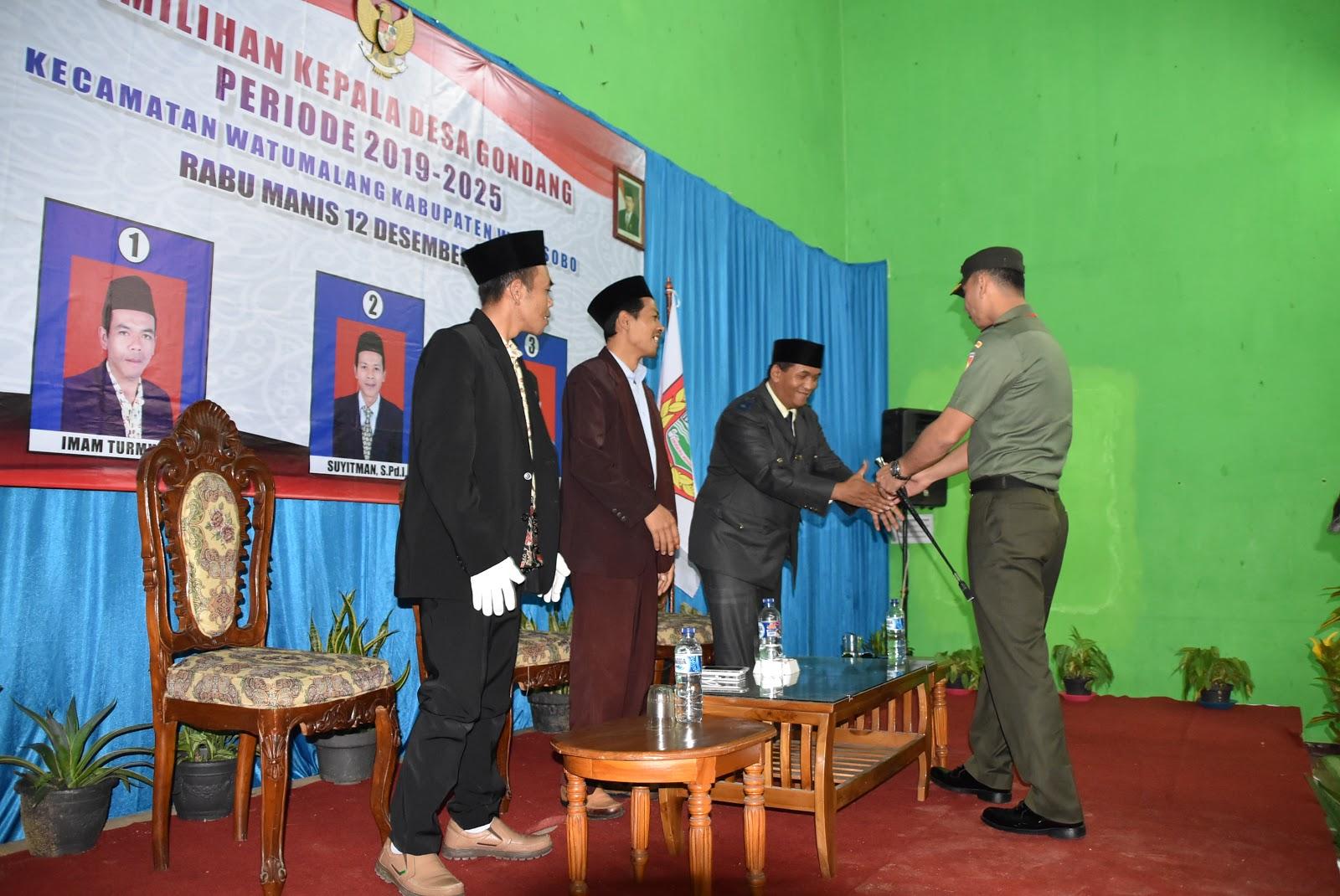 Kodim 0707 Pantau Pilkades Serentak Kabupaten Wonosobo
