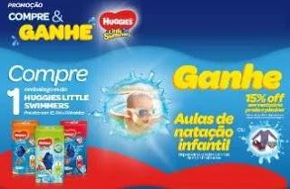Promoção Huggies Little Swimmers Compre e Ganhe - Fraldas Usar Água