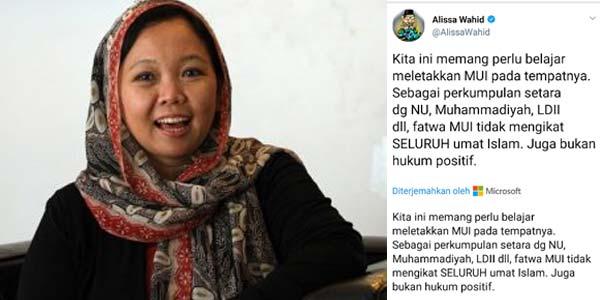 Singgung Soal Fatwa MUI, Alissa Wahid Diprotes