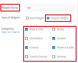 Cuewidegets, type of widgets, affiliate online