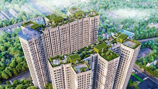 Phối cảnh trên cao dự án chung cư Imperia Sky Garden