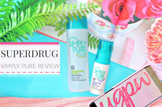 Superdrug simply pure toner and day serum