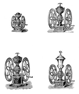 coffee mill image collage printable download