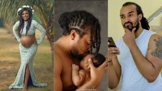 Bryan Okwara, Marie Claire and their son