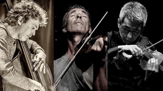 Sebastian Gramss(contrabass) Harald Kimmig(violin) 喜多直毅(violin)