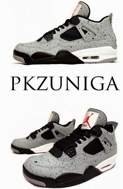 "Here is a detailed look at a pair of Air Jordan 4 ""Cement Flip"" Customs by  PKZUNIGA ee31b21368"