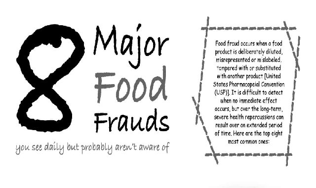 8 Major Food Frauds #infographic