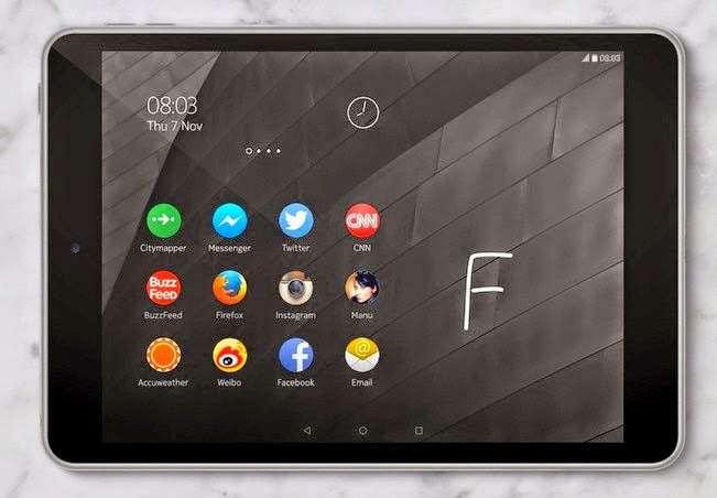 nokia n1 tablet with nokia z launcher screen view