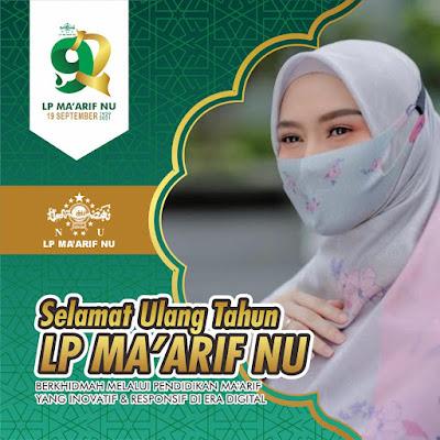 Download Link Bingkai Twibbon Harlah Ke 92 LP Maarif NU, Minggu 19 September 2021