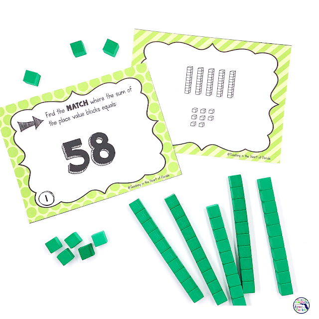 5 Hands On Ways to Explore Place Value Centers Matching 2 & 3 Digit Numbers