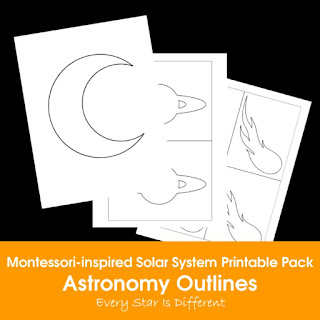Montessori-inspired Solar System Printable Pack: Astronomy Outlines