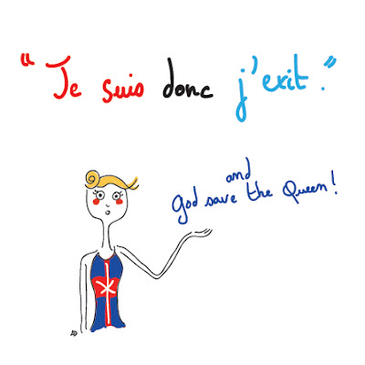 agathe, albane devouge, brexit, dessin, god save the queen, humour, illustration, illustratrice, je suis donc j'exit, royaume-uni, je pense donc je suis, londres, europe