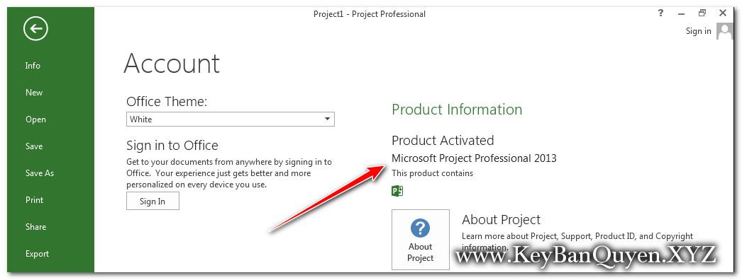 Key Project 2013 Pro bản quyền