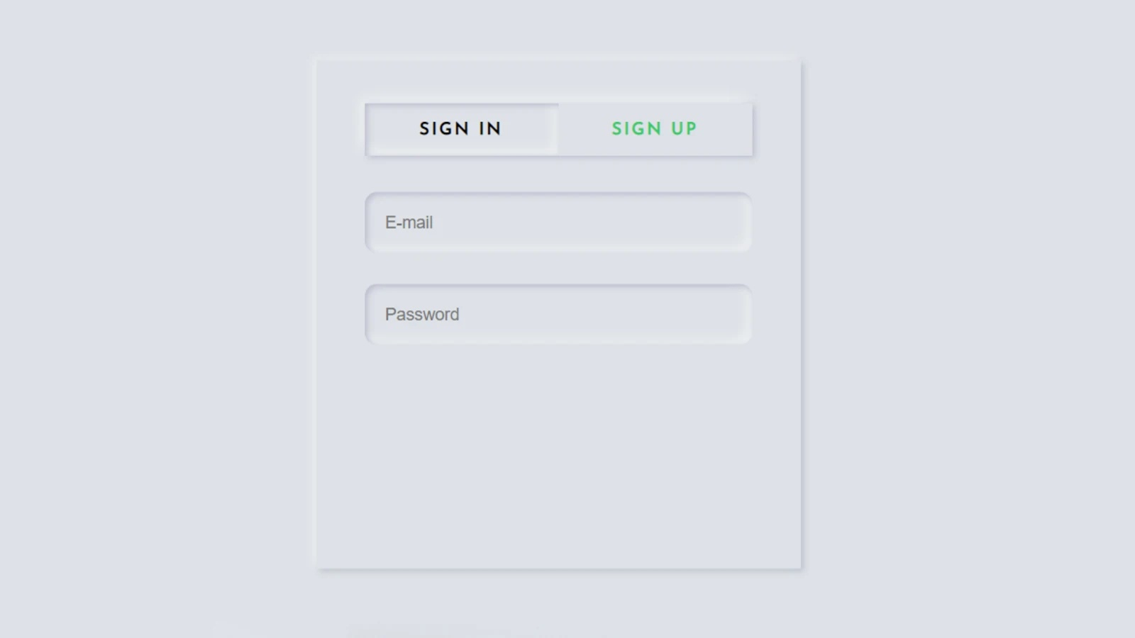 Create a place to input emails and passwords