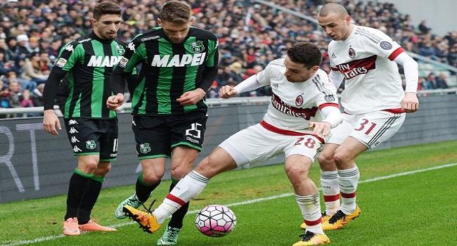 cuplikan gol milan vs sassuolo 2-0