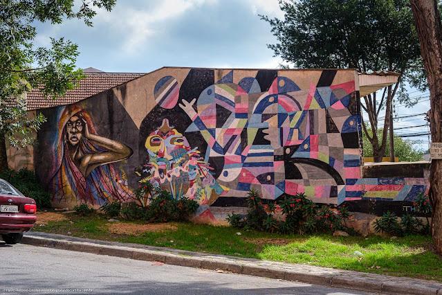 Um grafite na Emílio Cornelsen