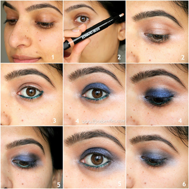 how to do a navy blue smoky eye