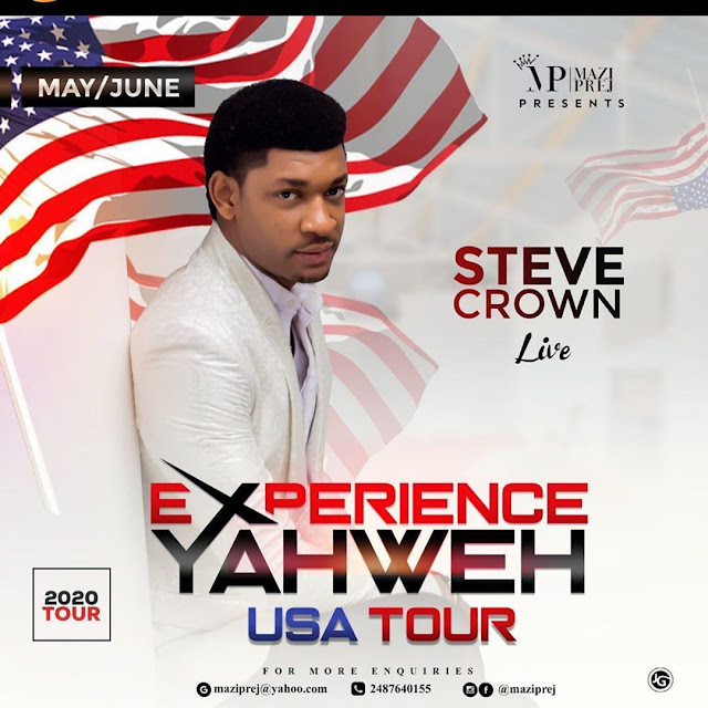 Exprience Yahweh Tour By Steve Crown In USA