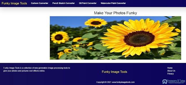 Funky Image Tools : un outil amusant pour convertir ses images en cartoons, dessins, peintures ou aquarelles