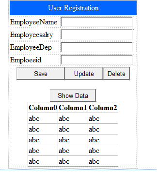INSERT,EDIT,UPDATE,BIND AND DELETE DATA USING 3 TIER APPLICATION IN