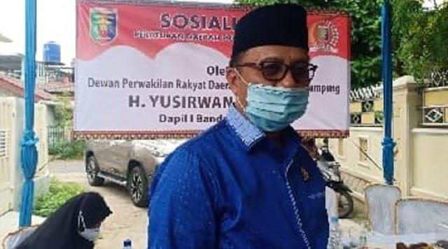 Anggota DPRD Lampung Yusirwan Minta Masyarakat Patuhi Perda AKB