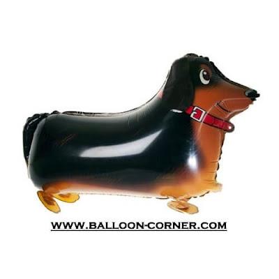 Balon Foil Airwalker Anjing Dachshund