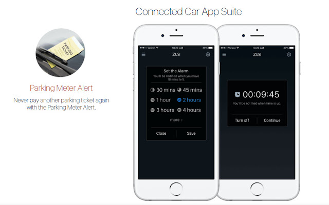 ZUS Car Charger can set parking meter alert to prevent summons
