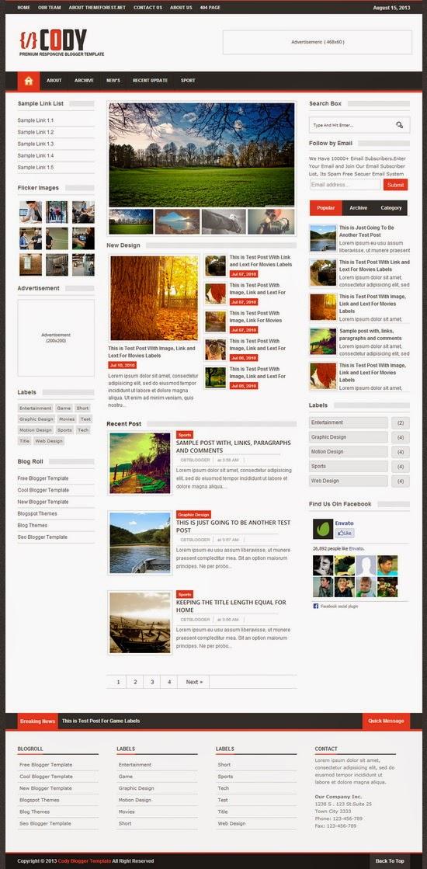 Download Cody - Responsive Magazine Blogger Template