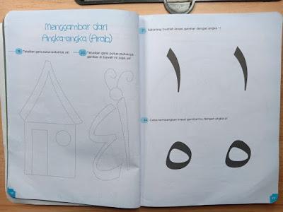 menggambar dengan angka arab