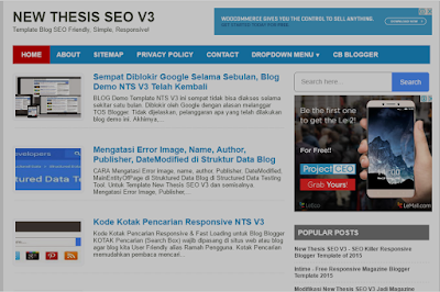 THESIS SEO V3 Fast Loading Blogger Template