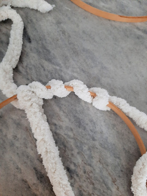 Wrap Yarn Around a thrift Store embroidery hoop