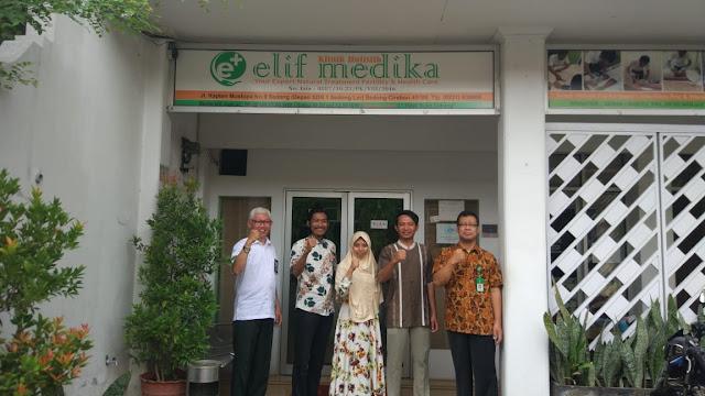 Kunjungan penelitian puslitbang kemenkes pusat di Klinik Holistik Elif Medika Thn 2018