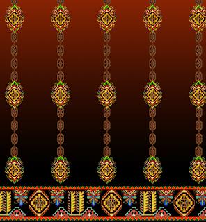 Abstract-border-textile-print