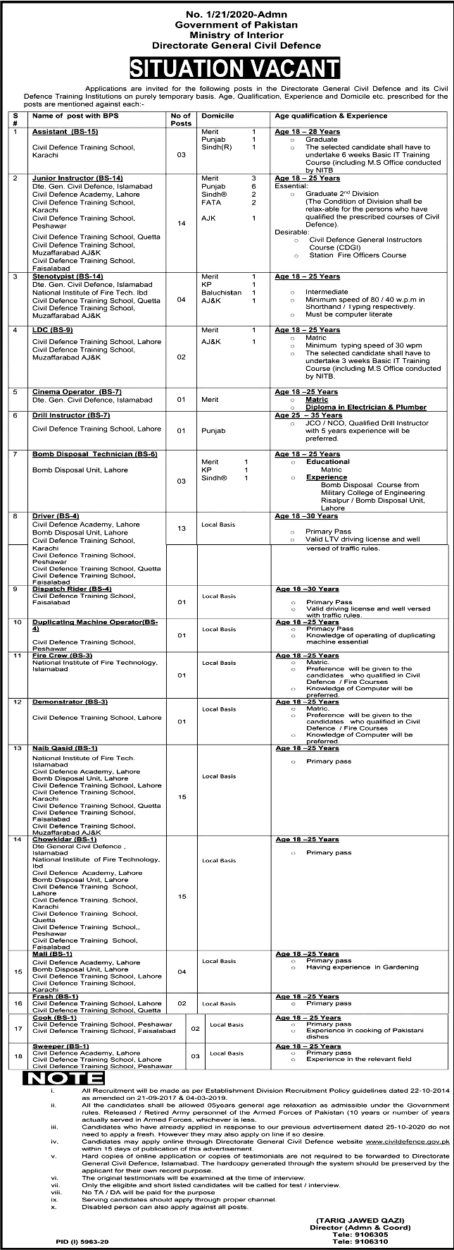 Latest Jobs in Ministry of interior May 2021