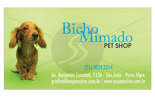 cartao de visita pet shop bh - Cartões de Visita Pet Shop