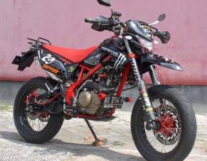 KUMPULAN GAMBAR MODIFIKASI MOTOR KLX 150