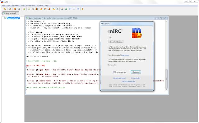 Screenshot mIRC 7.61 Full Version