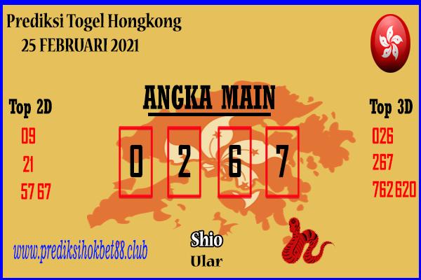Bocoran Hongkong 25 Februari 2021