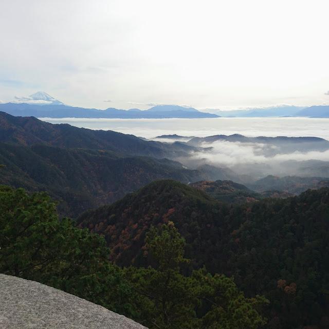 昇仙峡 弥三郎岳 雲海 富士山