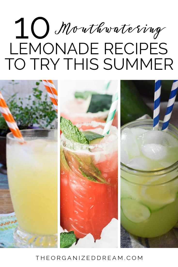 Mouthwatering lemonade recipes to try this summer. #recipes #summerrecipes #lemonade